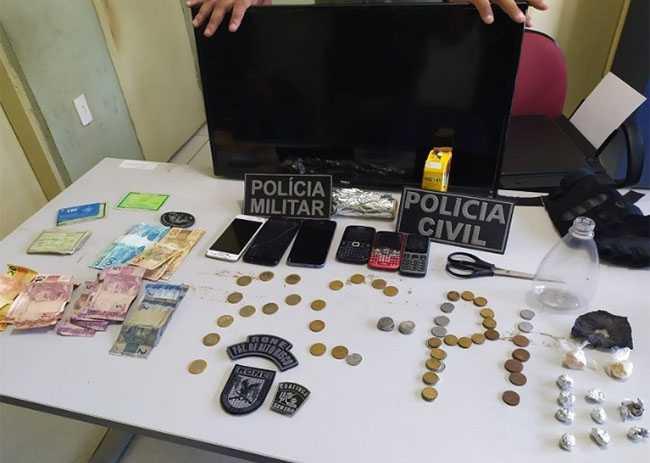 Material apreendido em Piracuruca. Foto: Polícia Civil
