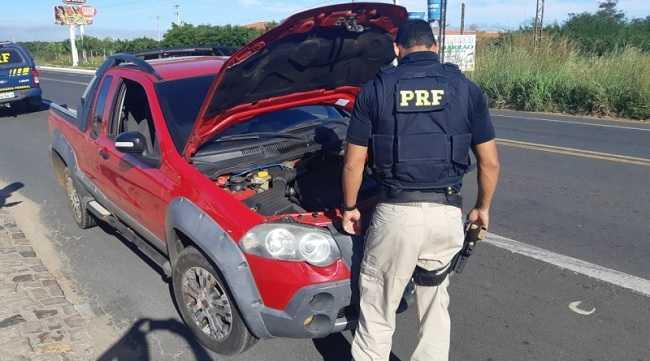 Veículo foi apreendido em Piripiri, na BR-343. Foto: PRF