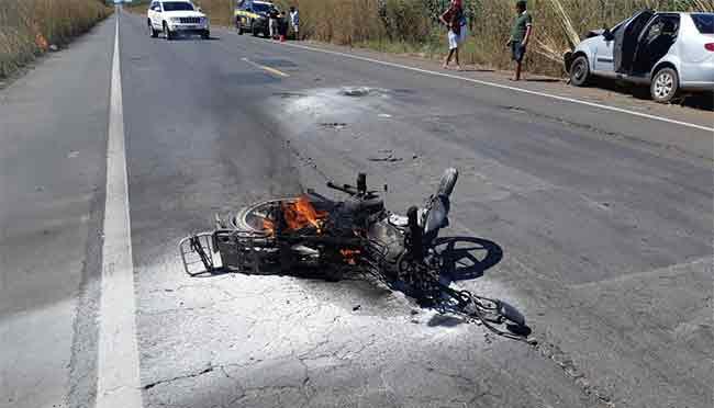 Acidente mata idoso em Piripiri. Foto: PRF