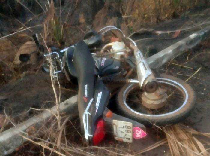 Moto conduzida pela vítima. Foto: reprodução