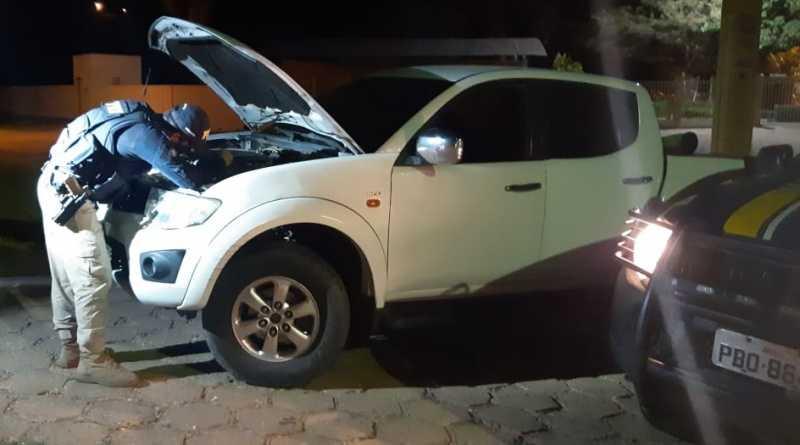 Veículo apreendido na BR 230. Foto: Divulgação