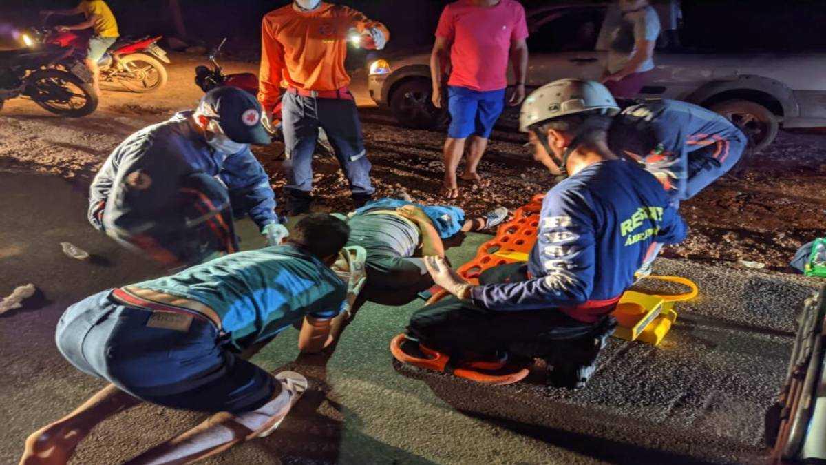 Alcidenê gomes foi resgatado por equipes do SAMU. Foto: Reprodução