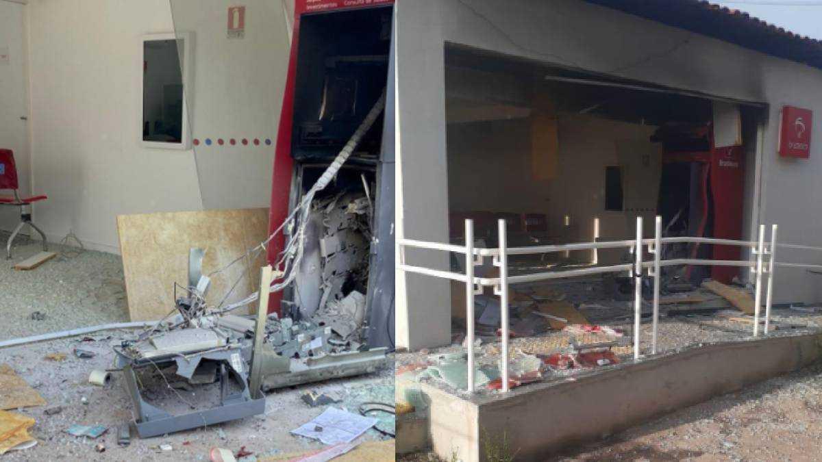 O prédio ficou cheio de destroços da explosão. Foto: Divulgação